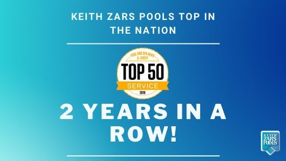 Keith Zars Pools Makes 2019 Top 50 Service List
